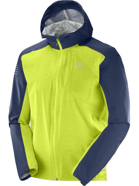 Salomon Bonatti WP Jacket Men acid lime/dress blue